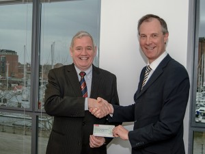 Cheque for Castle Hill Cancer Fund